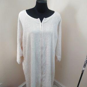 Only Necessities Cotton Chenille Full Zip Robe
